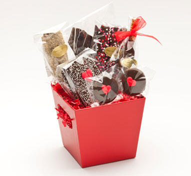 "Basket ""Chocolate Addiction"" - Valentine"
