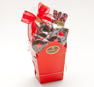 Chocolate Takeout Box - Valentine