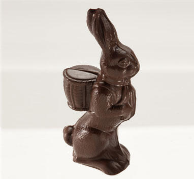 "Easter / 7"" Solid Dark Chocolate Bunny"