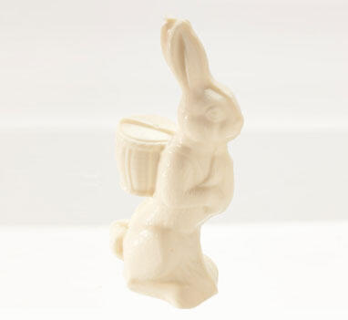 7' Solid White Chocolate Bunny
