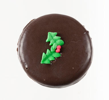 Chocolate Dipped Cookie - Christmas