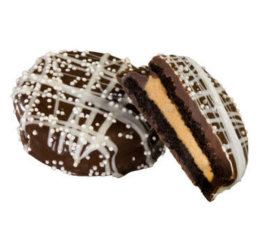 Chocolate Dipped Peanut Butter Filled Cookie