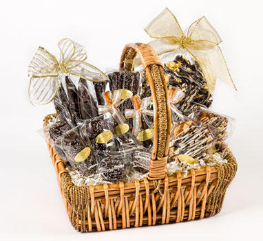 "Basket ""Chocolate Obsession"""